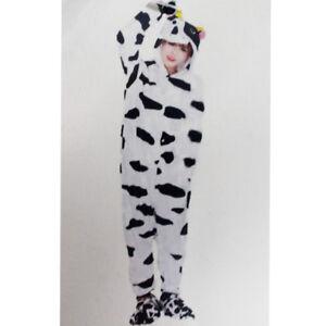 Tuta-Pigiama-Costume-Onesie-Carnevale-Halloween-Uomo-Donna-Unisex-Mucca