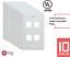 Wall Plate Network Port Keystone Jack 1-2-3-4-6 Cat5//Cat6 Ethernet Plate 10 Pack