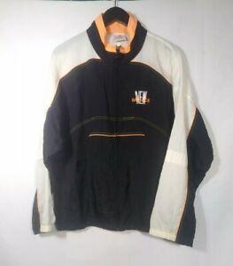 21fcbd1f8704d Vtg New Balance Track Jacket XL Black Neon Orange Spellout 80s 90s ...