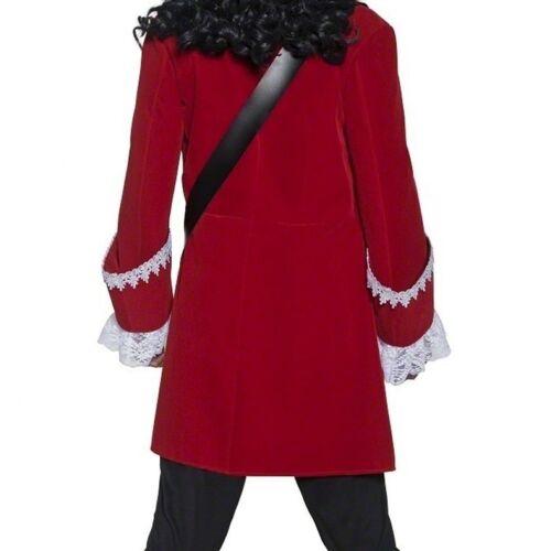 Smiffy/'s Pirate Captain Hook Red Jacket Mens Medium Halloween Costume 36174