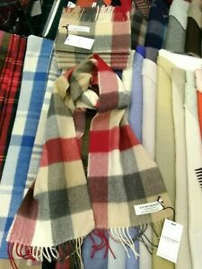 100-Lambswool-tartan-Scarf-by-Lochcarron-Red-Buffalo-Made-in-Scotland