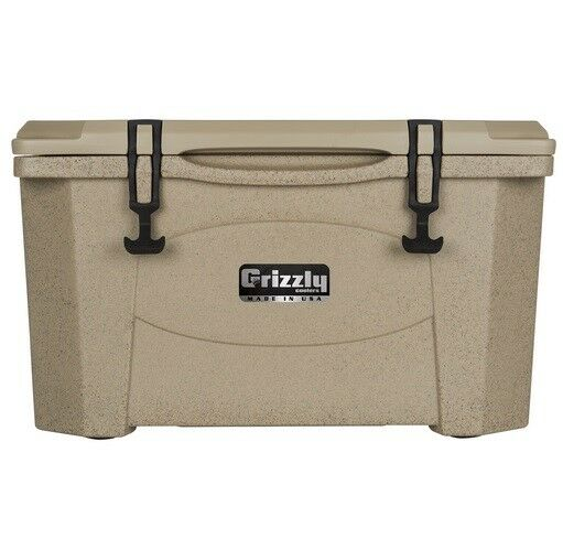 NEW Grizzly G60_SDT 60QT Cooler with redoTough Molded Construction-Sandstone Tan