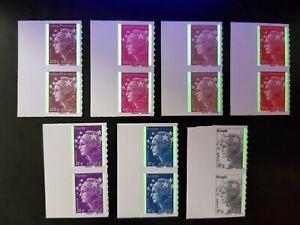 2-Lots-BDF-MARIANNE-BEAUJARD-Adhesifs-PRO-2011-NEUF