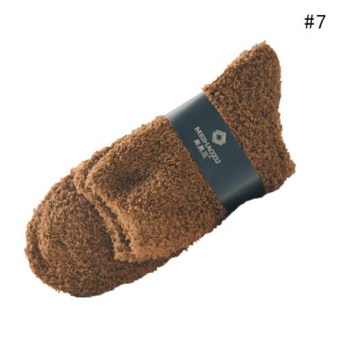 Unisex wmen und Männer Winter Dicke warme Socken feste Farbe Kuschel Socken Größ