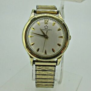 4937066348f Vintage Eterna-Matic Automatic Swiss EXA 17 Jewels 14k Gold Filled ...