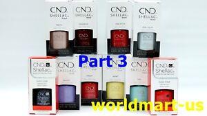 CND Shellac Gel Polish UV/LED Gel Color Base Top Coat /Choose Any Color PART 3*
