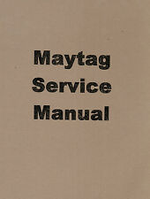 Maytag Gas Engine Model 72 Twin Service Manual Hit Miss Book Parts List Cylinder
