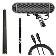 Rode NTG4 Shotgun Microphone w/ Rode Blimp, Mini Boompole & 20' XLR Cable