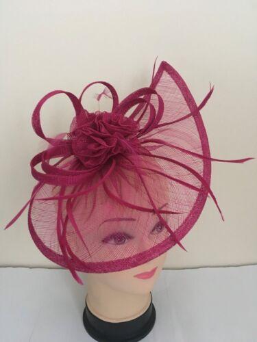 donna giorno razza Royal Ascot Elegante Fascia Per Capelli Fascinator Con Cappello Fascia Alice matrimonio