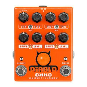 okko diablo dual overdrive pedal ebay. Black Bedroom Furniture Sets. Home Design Ideas