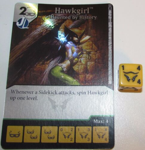 Foil HAWKGIRL HAUNTED BY HISTORY 57//124 Batman Dice Masters DC