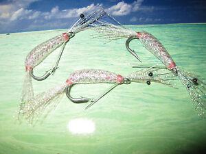 3 V Fly Size 4 Alphonse Living Shrimp Light Tan Bonefish Saltwater Flies