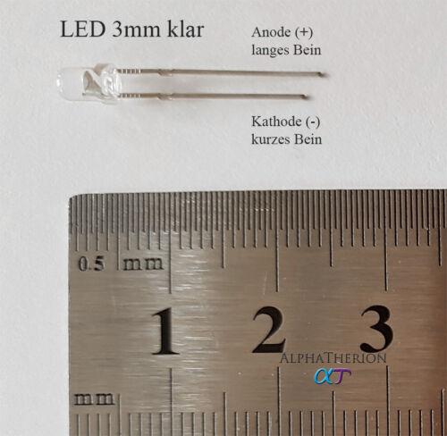 verschiedene Mengen 10 LED Orange 3mm superhell klar 30 20