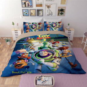 Toy-Story-Single-Double-Queen-King-Bed-Doona-Quilt-Duvet-Cover-Set-Pillowcase