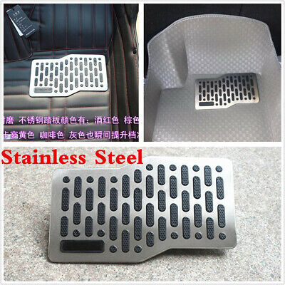 Car SUV Driving Postion Floor Mats Stainless Steel Heel Plate Pedal Carpet Pedal