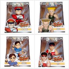 "Jada Metals 4"" Die Cast Capcom Street Fighter Bundle Set Guile Ryu Bison Chun Li"