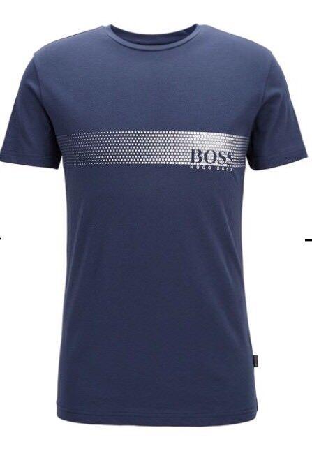 Hugo Boss BOSS T-shirt Top size Medium Men's BNWT Navy bluee NEW