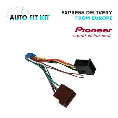 Pioneer Car Radio Stereo 16 Pin Wiring Harness Loom Iso 2003 Lead Wire Connector