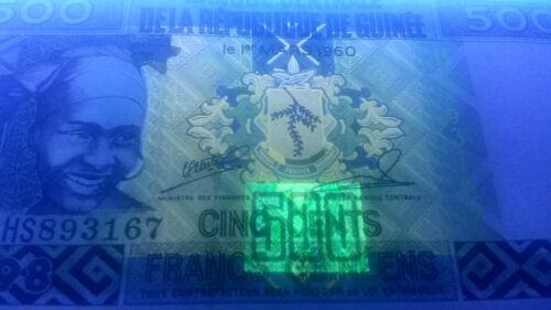 young woman // diamond mine ceremonial headdress $3+ CV! 500 Francs Guinea P36