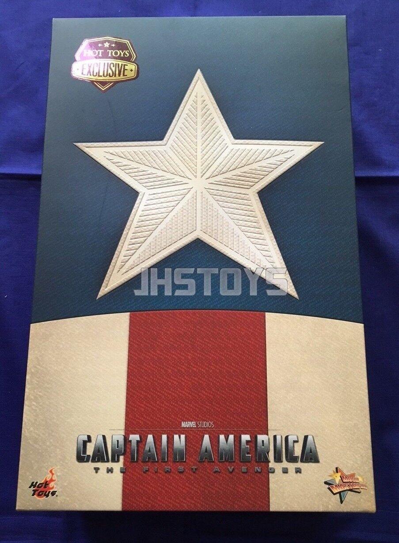 Hot Juguetes 1 6 Capitán América El Primer Vengador Estrella Spangled hombre versión MMS205
