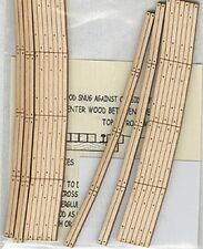 "Blair Line #125 vmf121 HO 2 Sets of Wood Grade Curved Crossings w// 15/"" Radius"