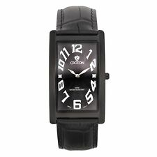 Croton Men's CN307533BKBK Aristocrat Stainless Steel Black Rectangular Watch