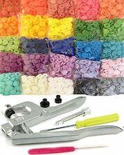 250 Sets 25-Color Original KAMsnaps Size 20 KAM Snaps & Snap Press Pliers...