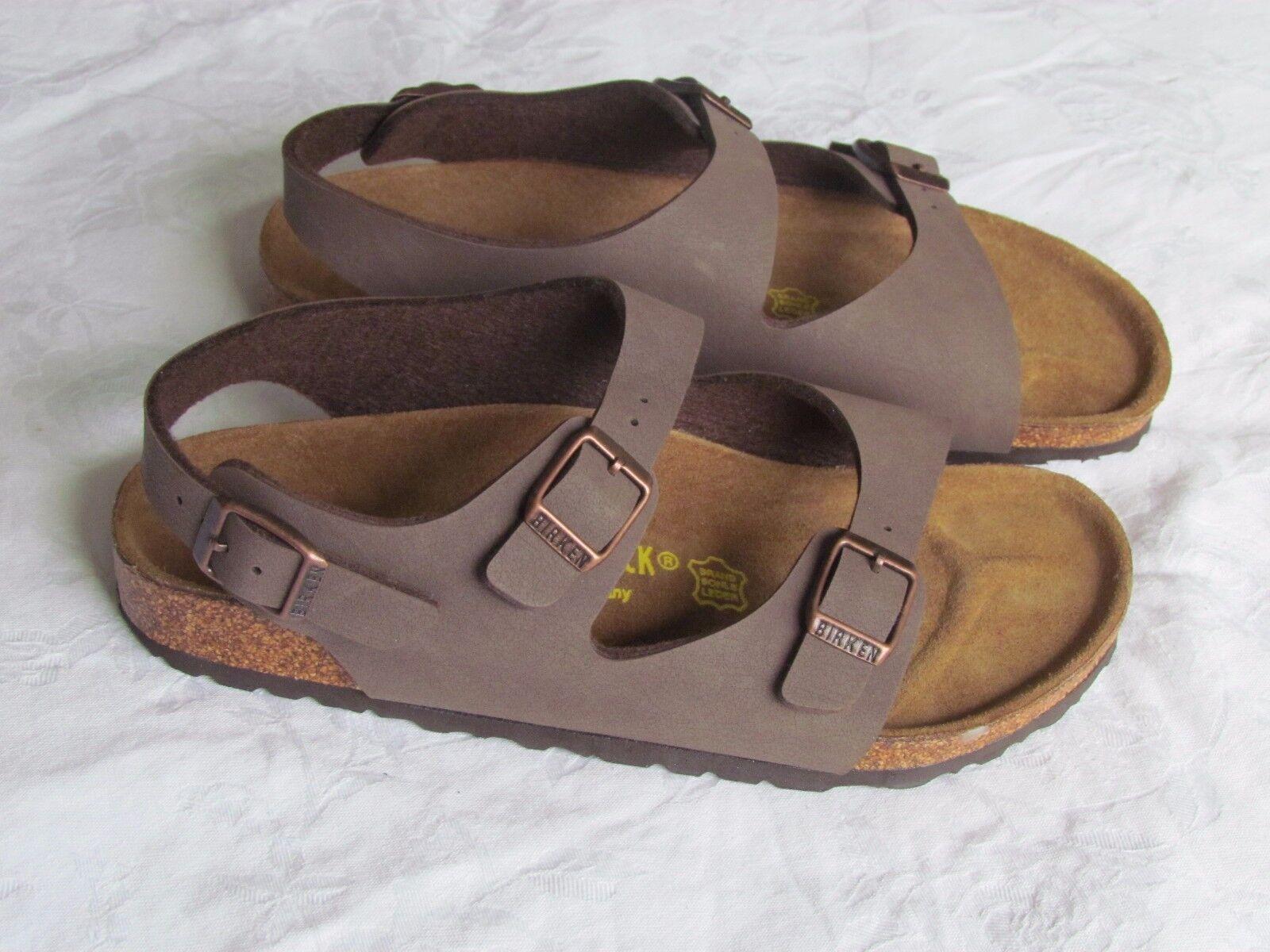 Nuevo Birkenstock Damas Chicos Chicas Mocca Marrón Mulas Sandalias UK Size 2