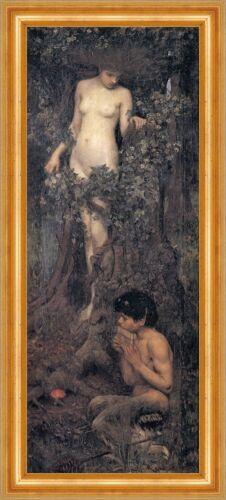 A Hamadryad ALBERO Ledger mitologia greca PAN Nymphe Waterhouse a3 18 incorniciato