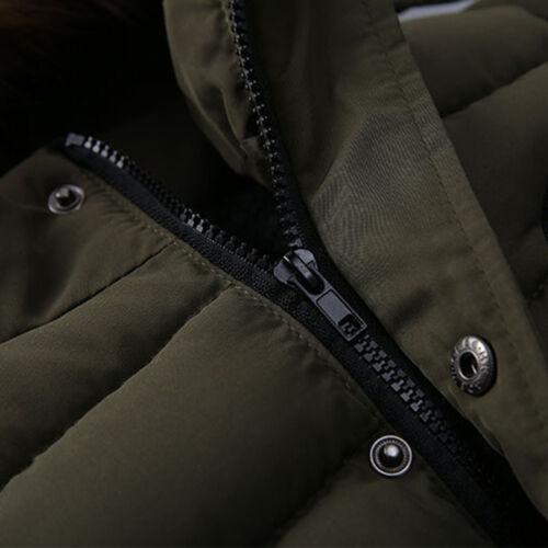 Kids Boys Winter Warm Fur Hooded Padded Coat Jacket Parka Outwear 2-5Years