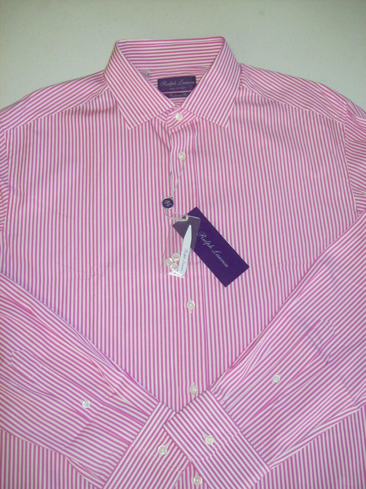 Ralph Lauren lila Label Aston Collar Striped  Dress Shirt NWT 17  x 36  425
