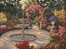 "Jardín Fuente Cross Stitch Kit-Elsa Williams 03250 - 16"" X 12"" - 14 cuenta"