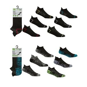 Hommes-3-Paires-Sport-Trainer-Liner-Chaussettes-Cheville-Taille-Basse-Gym-Course-amortie