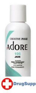 BL Adore Semi-Permanent Haircolor #195 Jade 4 oz - THREE PACK