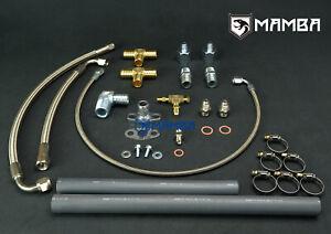 MAMBA Oil & Water Line Kit For Toyota Land Cruiser 2H 4L HJ60 w/ TD05H 16G 18G