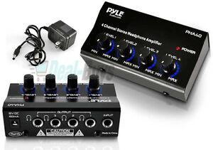 pyle 4 channel headphones signal splitter amp distribution sharing amplifier box 744633873463 ebay. Black Bedroom Furniture Sets. Home Design Ideas