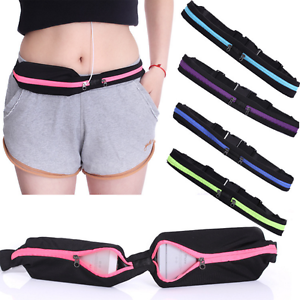 Running Sport Waist Belt Pocket Bum Bag Stretching Jogging Pouch Pack Cycling J