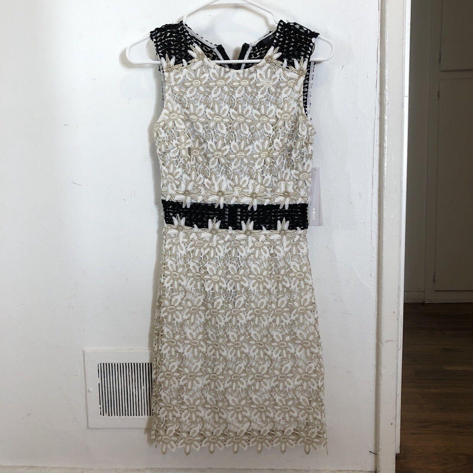 Aqua Floral Lace Sheath Dress