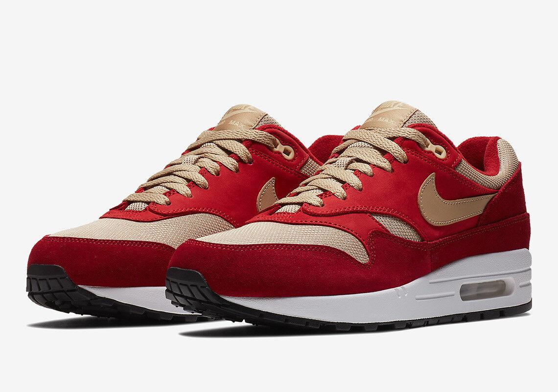 Nike Air Max 1 Premium Atmos Red Curry Men SZ 7.5 - 13