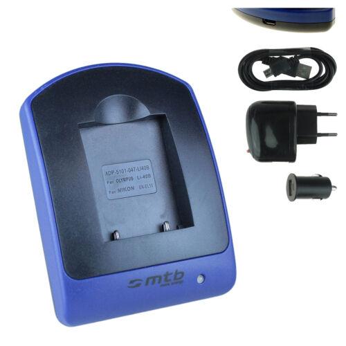 7010 LI-40B//42B per Olympus mju µ 5010 Caricabatteria 7030 7000 USB 7020