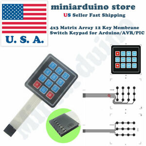 Details about 1pcs Keypad 4 x 3 Matrix Array 12 Key Arduino Membrane Switch  Keyboard module