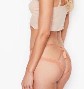 5eb283b27b9b3 Details about Victoria Secret Very Sexy Tassel Cheeky Panty XL Copper blush