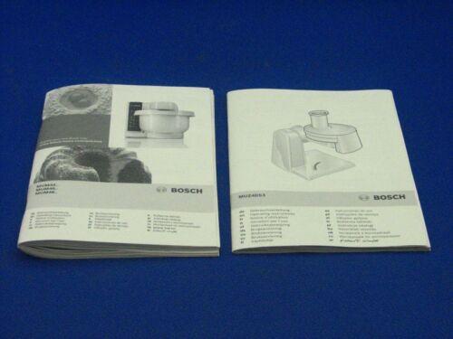 Manuale d/'uso da Bosch mum4427 Robot da cucina