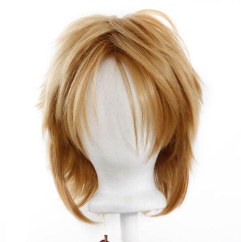 13'' Shaggy Messy W/ Long Bangs Hazelnut Brown Visual Kei Cosplay Wig New