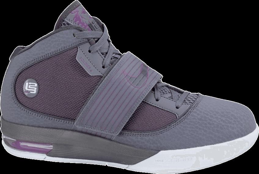 NIKE Zoom Soldier IV Neu Grau Jordan Kobe Basketball Limited Schuhe Gr 43 US 9,5