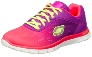 Details zu SKECHERS Women's FLEX APPEAL: STYLE ICON Trainers, Hot PinkPurple, UK 2 EU 35
