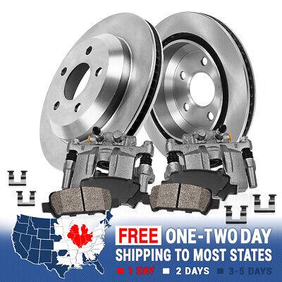 Rear OE Brake Calipers /& Rotors Ceramic Pads Kit For Lexus ES330 Toyota Camry
