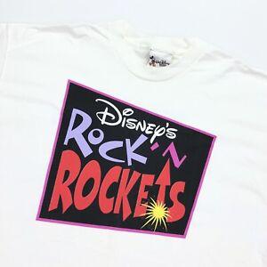 VTG 90's NEW Disney World Cast Member T-Shirt Rock 'n Rockets RARE • Large