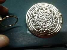 ferma foulard scudo pl oro artigianale  su ruchiesta argento made in italy