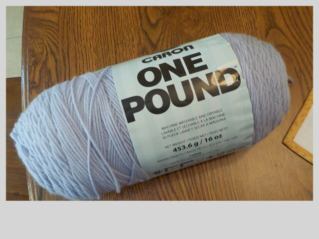 (1) One Skein Caron One Pound (Lilac) 812 Yards Yarn Knit Crochet, 16 OZ